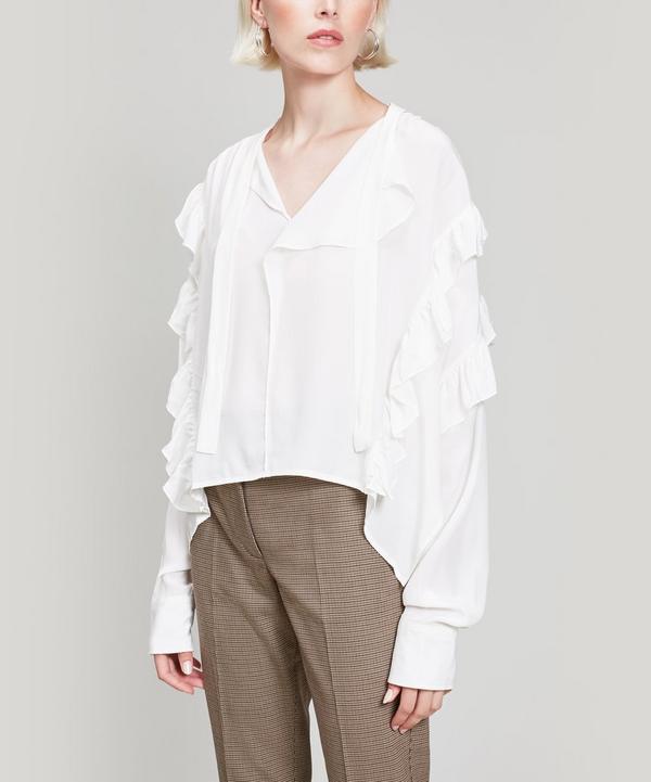 Libel Ruffle Silk Blouse