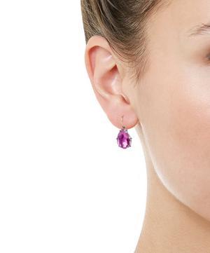 Rhodium-Washed Silver Caterina White Quartz Drop Earrings
