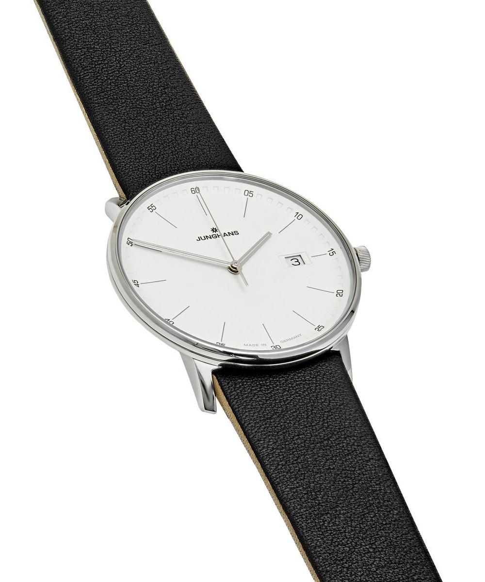Form Quartz 39mm Crystal Leather Strap Watch