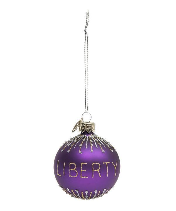 Glitter Liberty Bauble