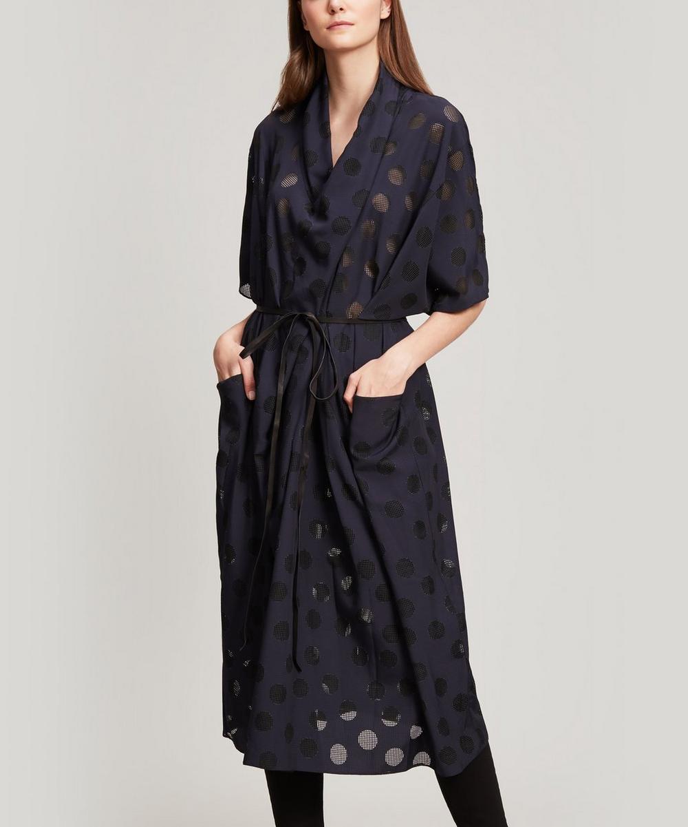 Polka Dot Robe Wrap Dress