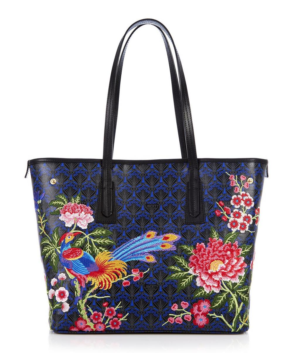 Elysian Paradise Embroidered Little Marlborough Tote Bag