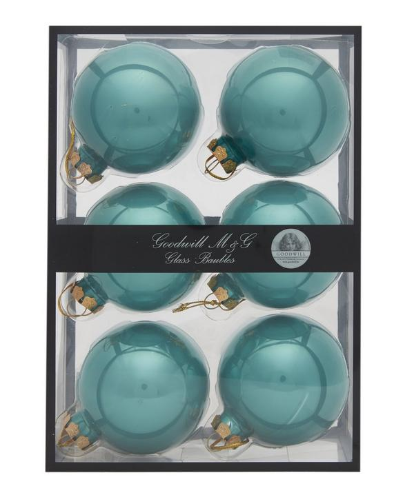 Set of 6 Glass Baubles