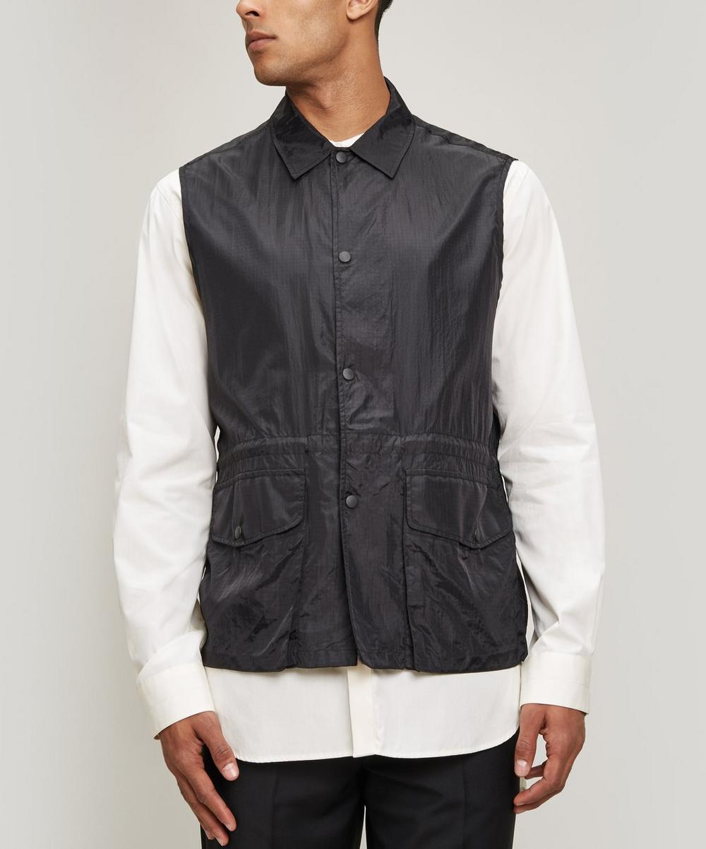 OUR LEGACY RIPSTOP PUFF POCKET SLEEVELESS SHIRT