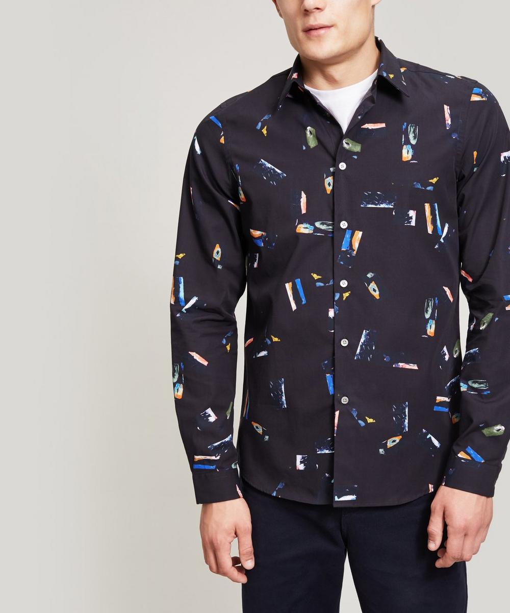 PS BY PAUL SMITH ABSTRACT PRINT COTTON SHIRT
