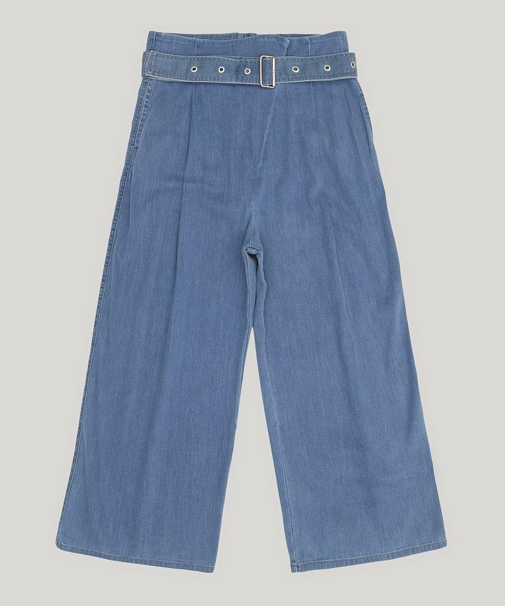 Via Pleat-Front Jeans