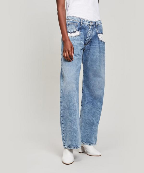 Straight Jeans with Oversized Pockets