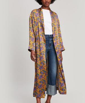 Florence Leontine Silk Satin Long Robe