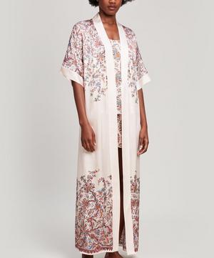 Florence Patricia Silk Satin Long Kimono