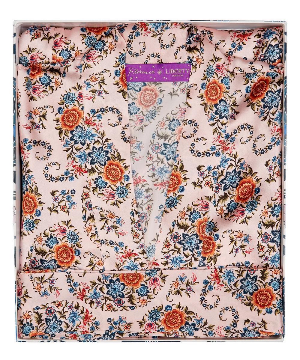 Florence Evelyn Silk Satin Short Kimono