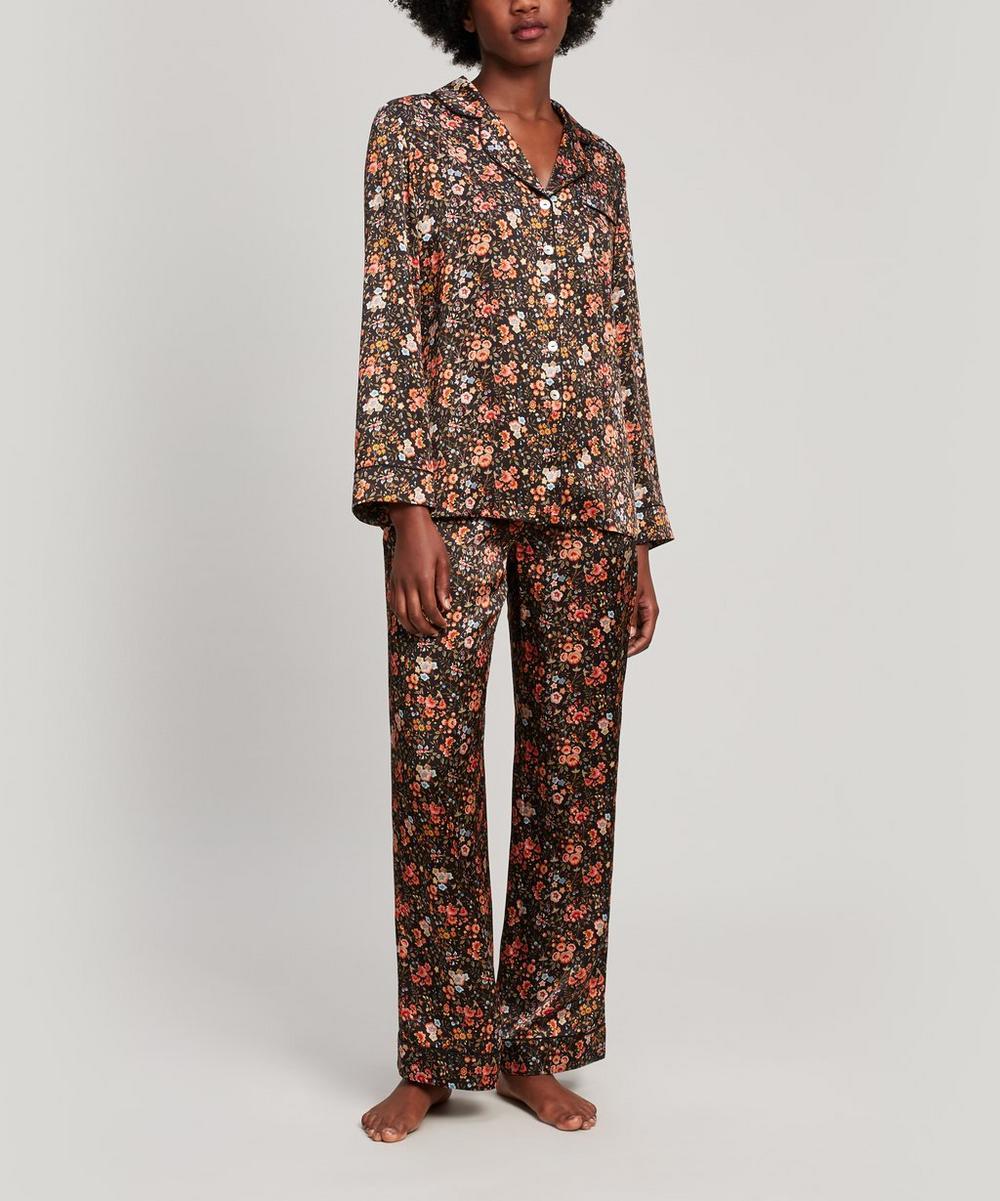 Florence Delilah Silk Satin Long Pyjama Set