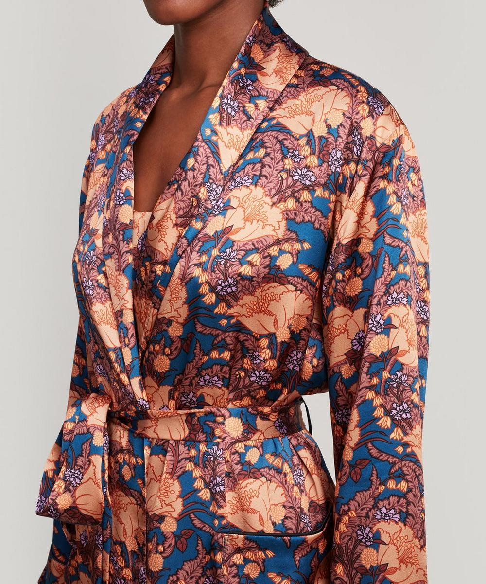 Florence June Silk Satin Long Robe