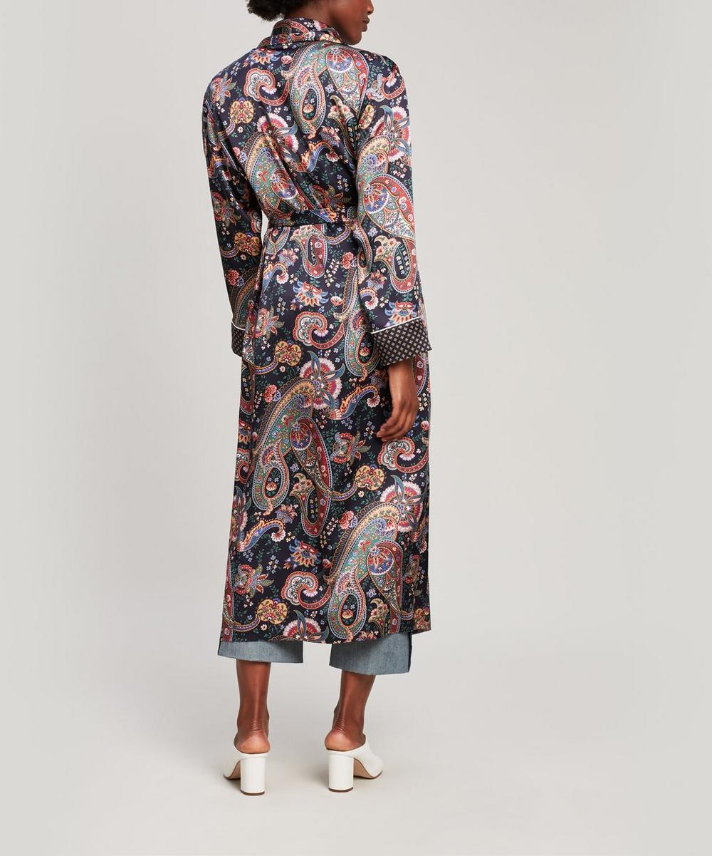 Florence Silk Satin Long Robe