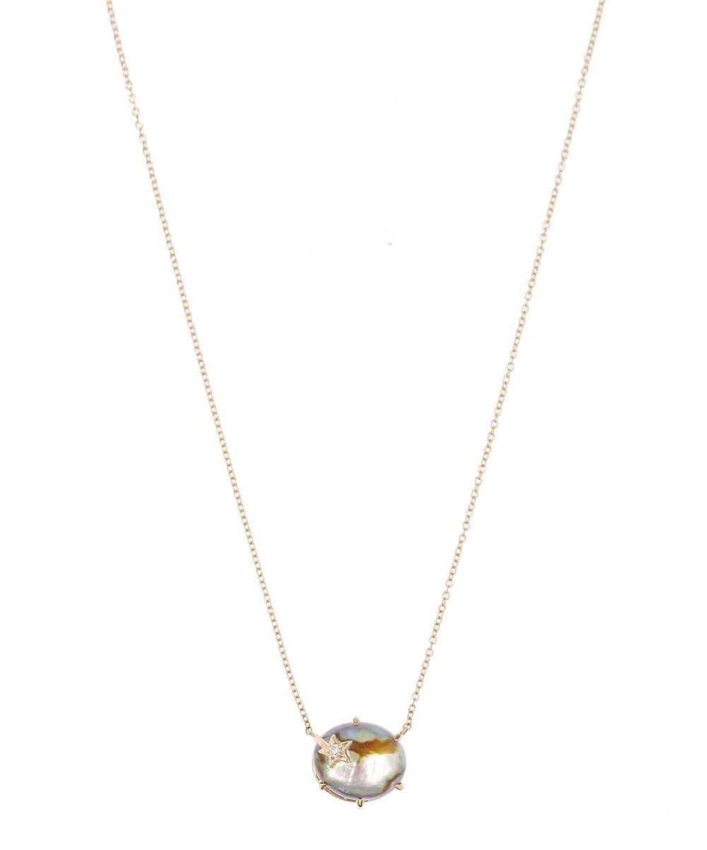 Gold Mini Galaxy Star Mother-Of-Pearl Necklace