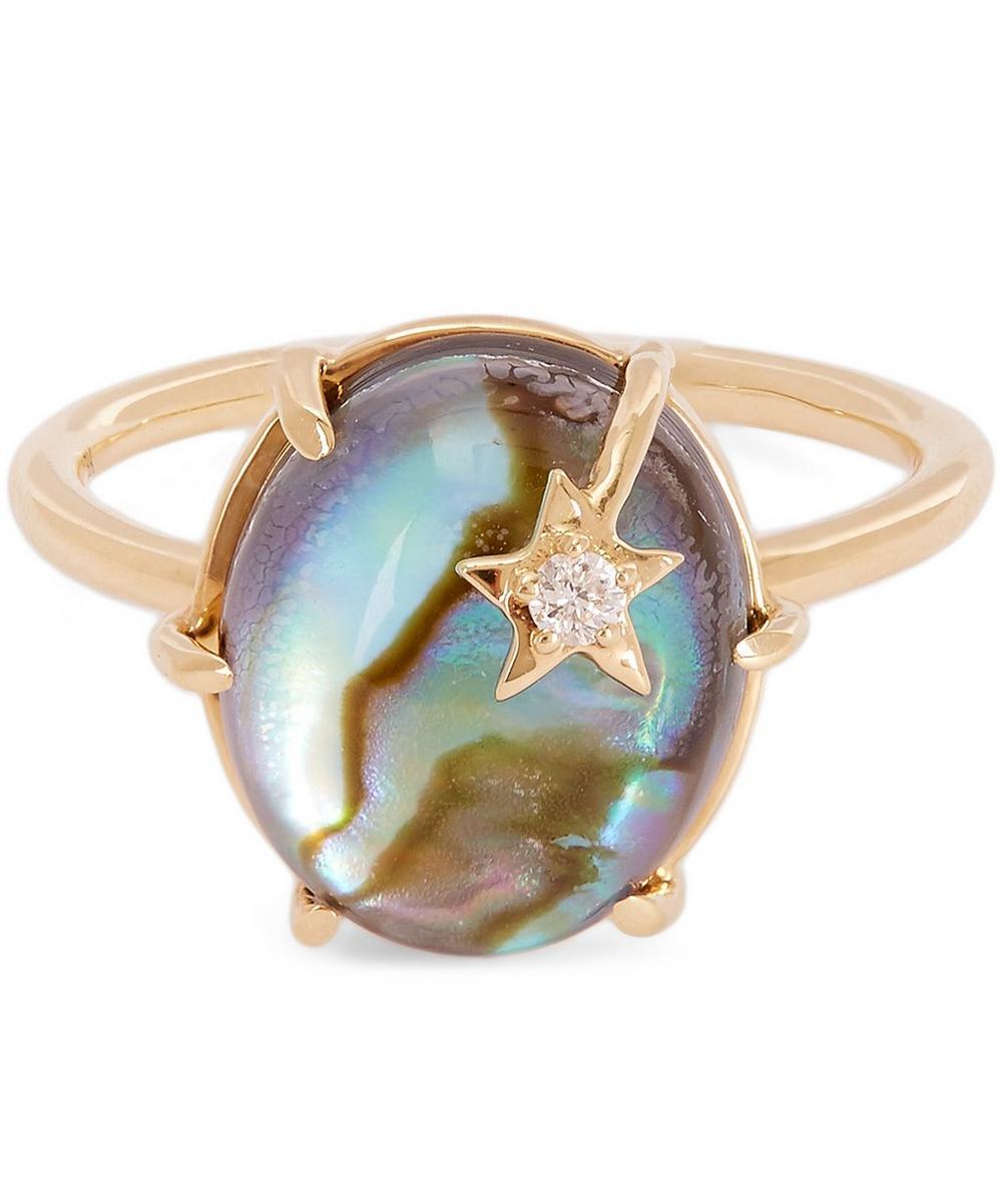ANDREA FOHRMAN GOLD MINI MOTHER-OF-PEARL GALAXY STAR RING