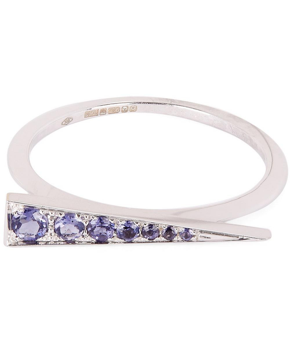 DAOU WHITE GOLD AND IOLITE SPARK RING