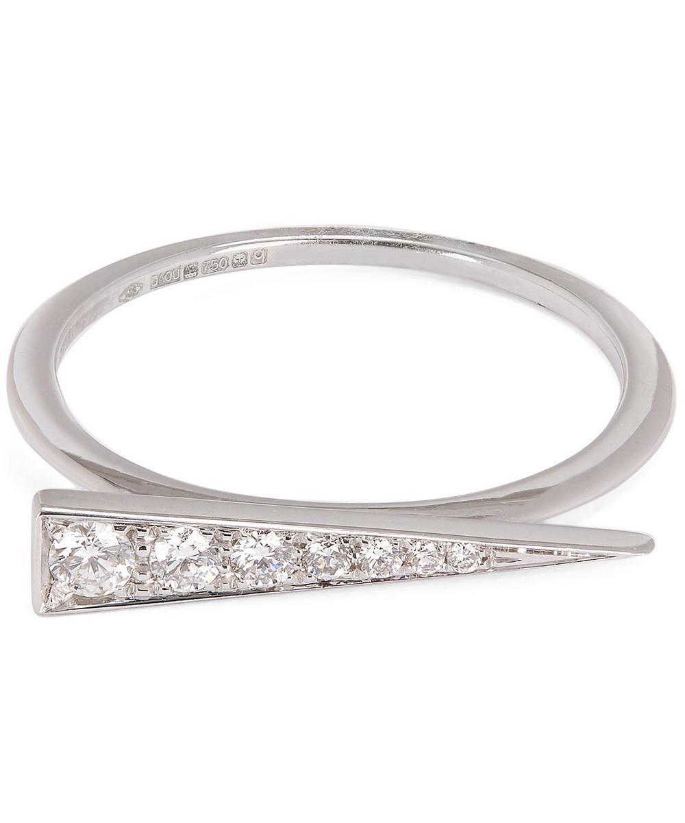 DAOU WHITE GOLD AND WHITE DIAMOND SPARK RING