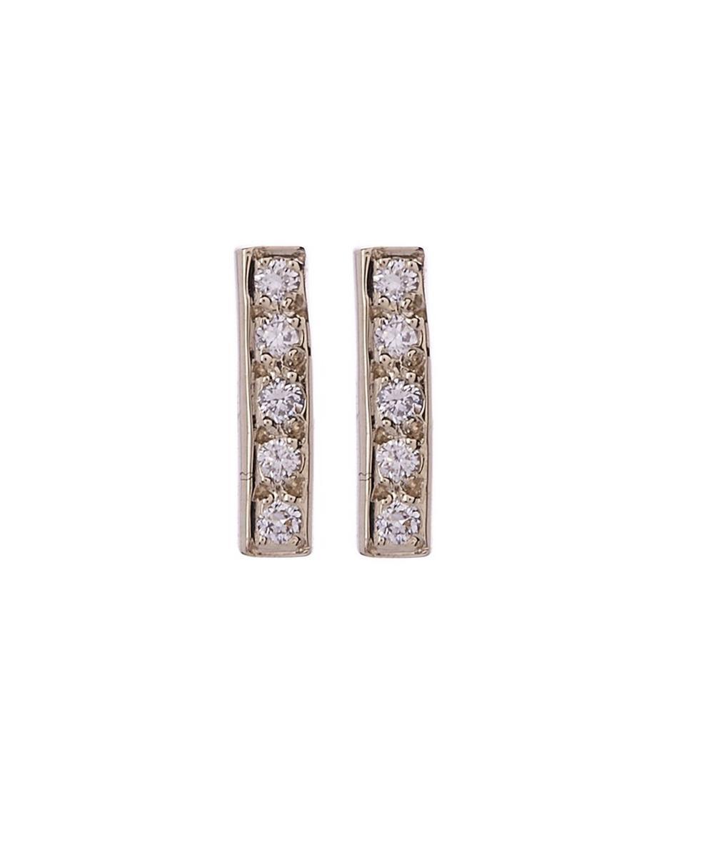 Small Diamond Bar Stud Earrings