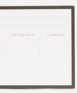 Bordered Weekly Desk Planner