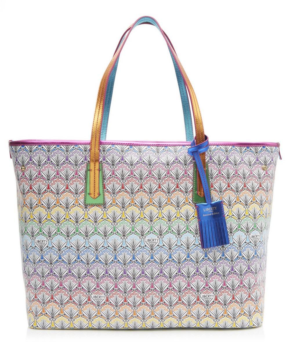 Rainbow Patch Marlborough Tote Bag In Iphis Canvas