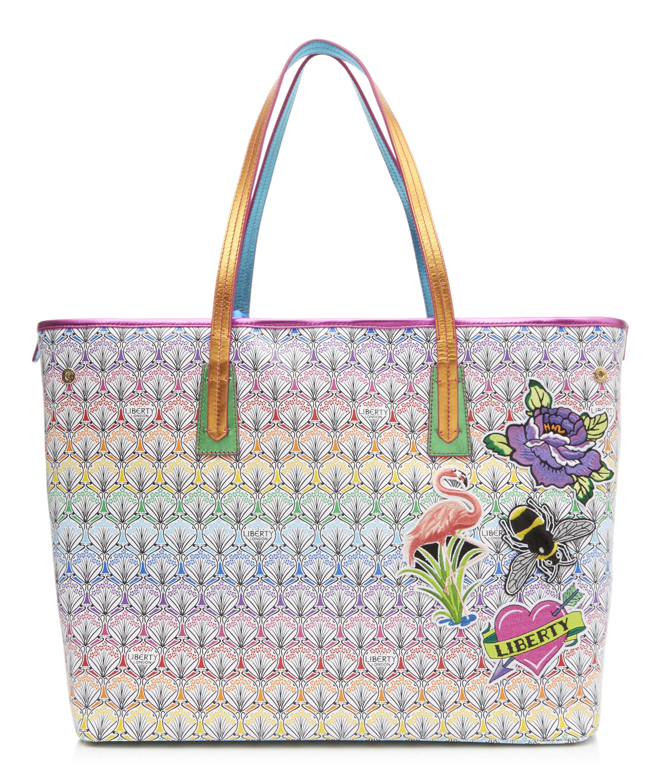 00c5d6dfa6207 Rainbow Patch Marlborough Tote Bag in Iphis Canvas