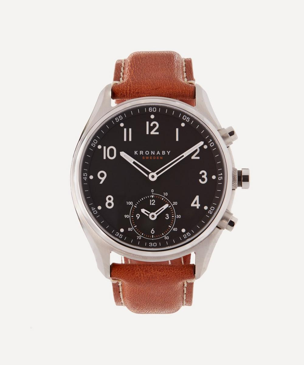 Apex Leather Dial Smart Watch