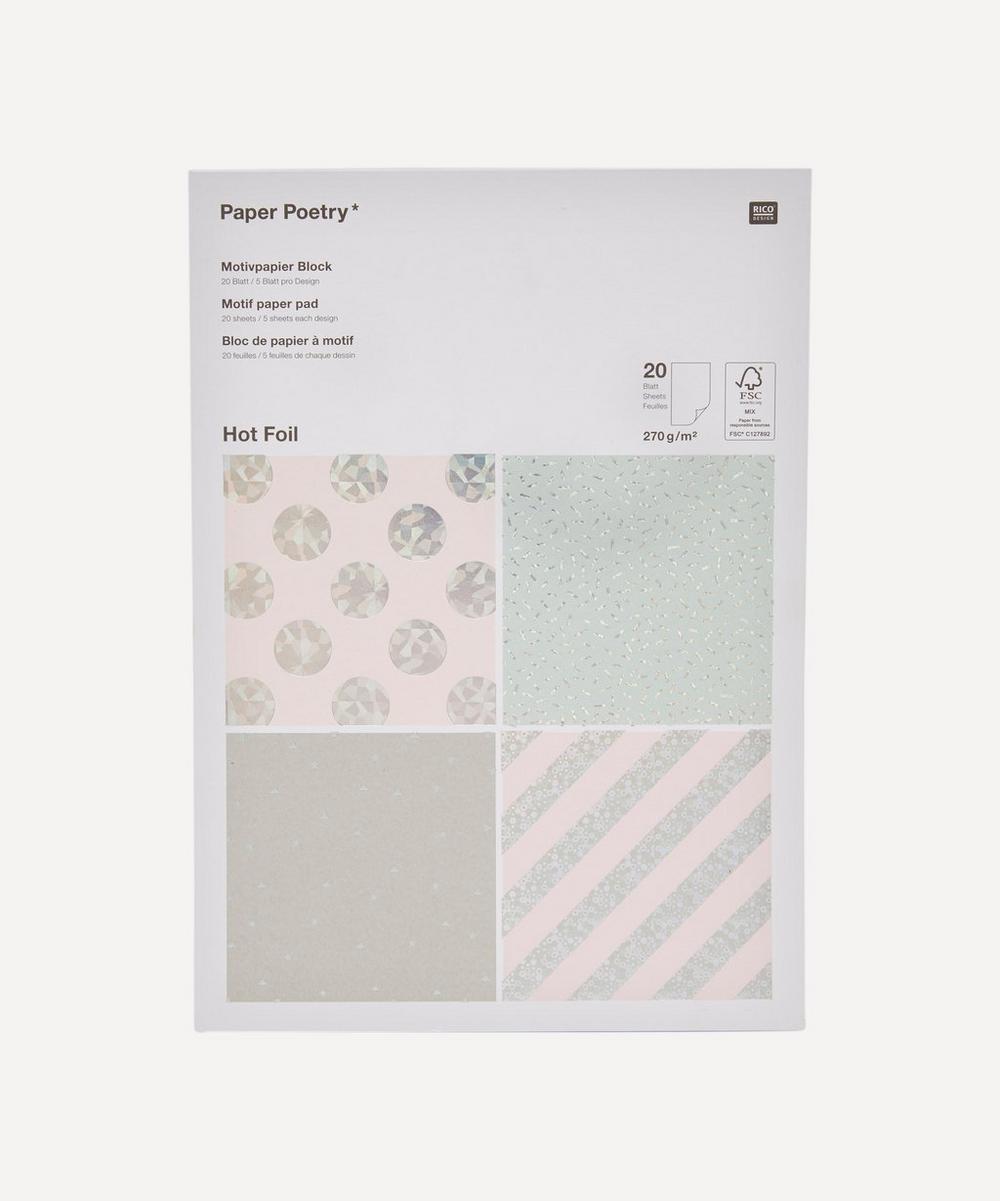 Paper Poetry Hot Foil Motif Paper Pad