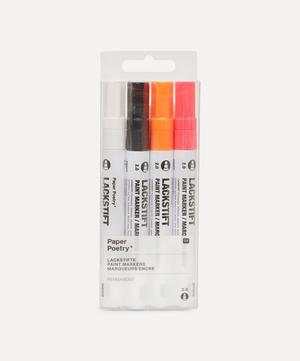 Paper Poetry Neon Paint Markers Set of Four