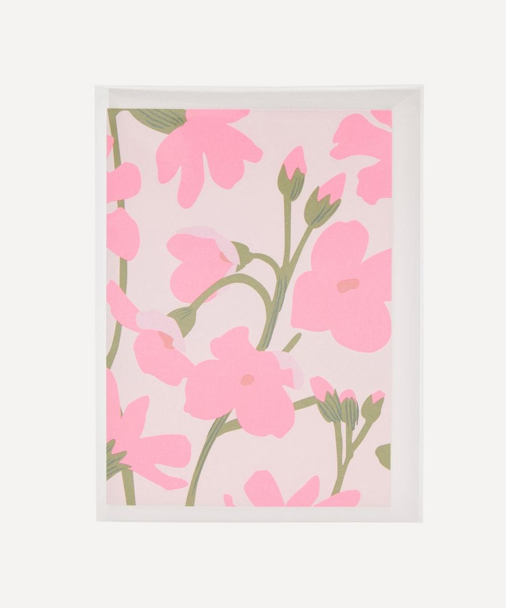 Pink Flowers Notecard