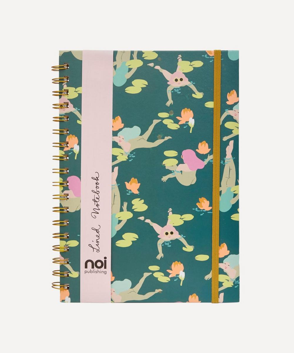 noi Naked Swimming Ladies Lined Notebook