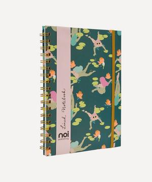 Naked Swimming Ladies Lined Notebook
