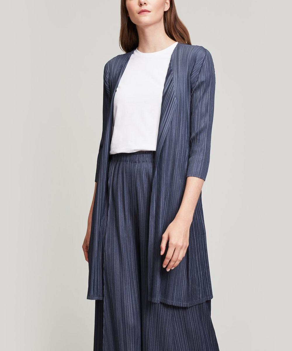 Pleats Please Issey Miyake MELLOW PLEATS LONG WRAP JACKET