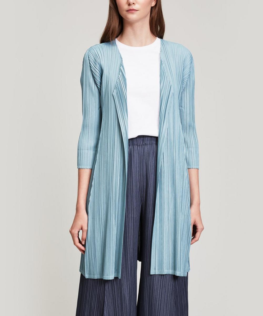 Mellow Pleats Long Wrap Jacket