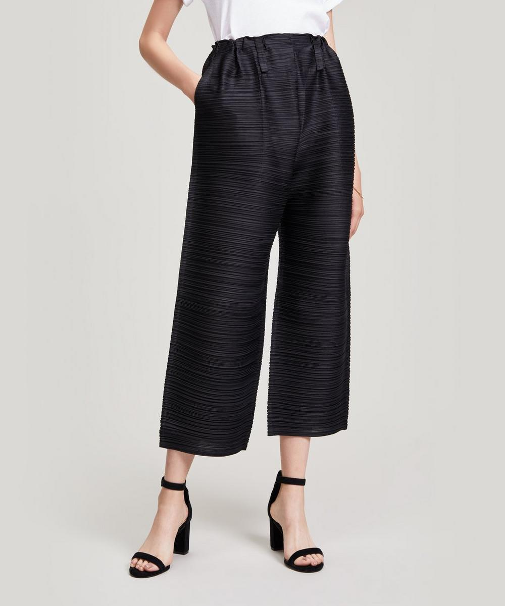Pleats Please Issey Miyake BOUNCE CROP WIDE TROUSERS