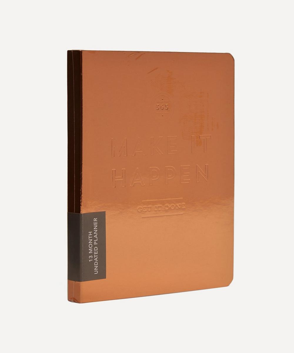 Make It Happen Copper Pocket Undated Planner
