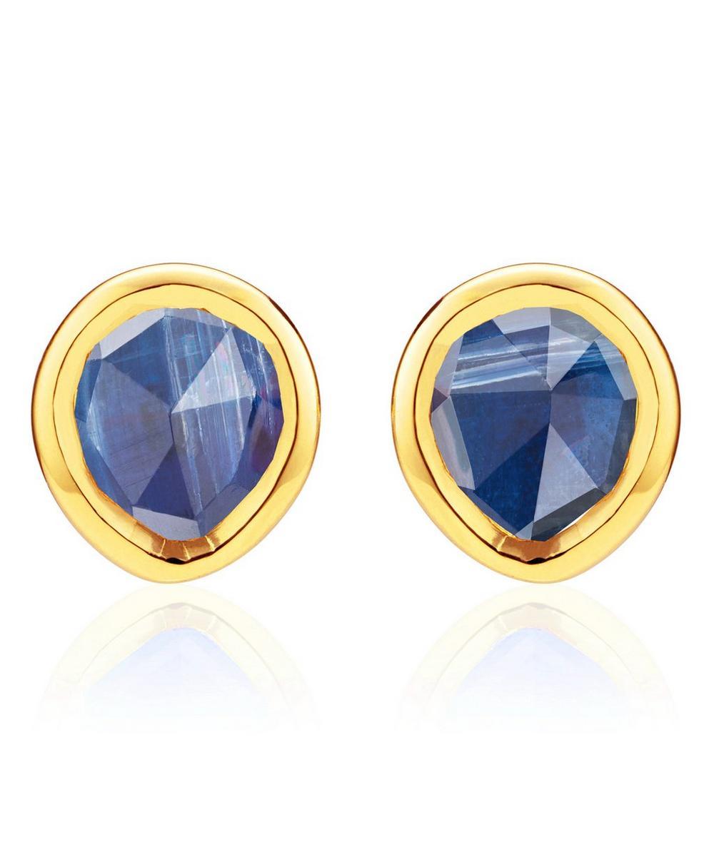 Gold Vermeil Kyanite Siren Mini Stud Earrings
