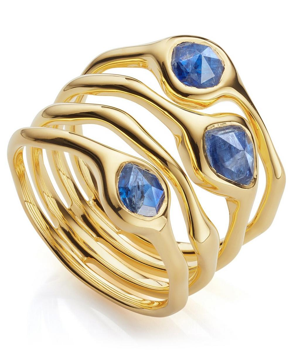 Gold Vermeil Siren Cluster Kyanite Cocktail Ring from Liberty