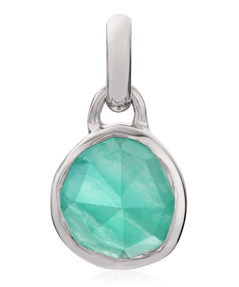 Silver Siren Mini Amazonite Bezel Pendant