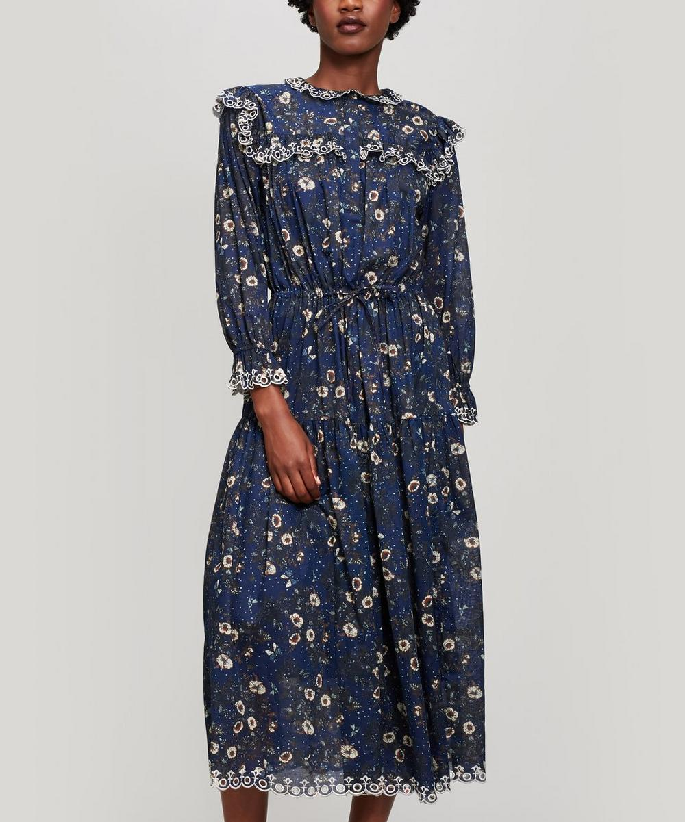 ETOILE ISABEL MARANT EINA EMBROIDERED FLORAL DRESS