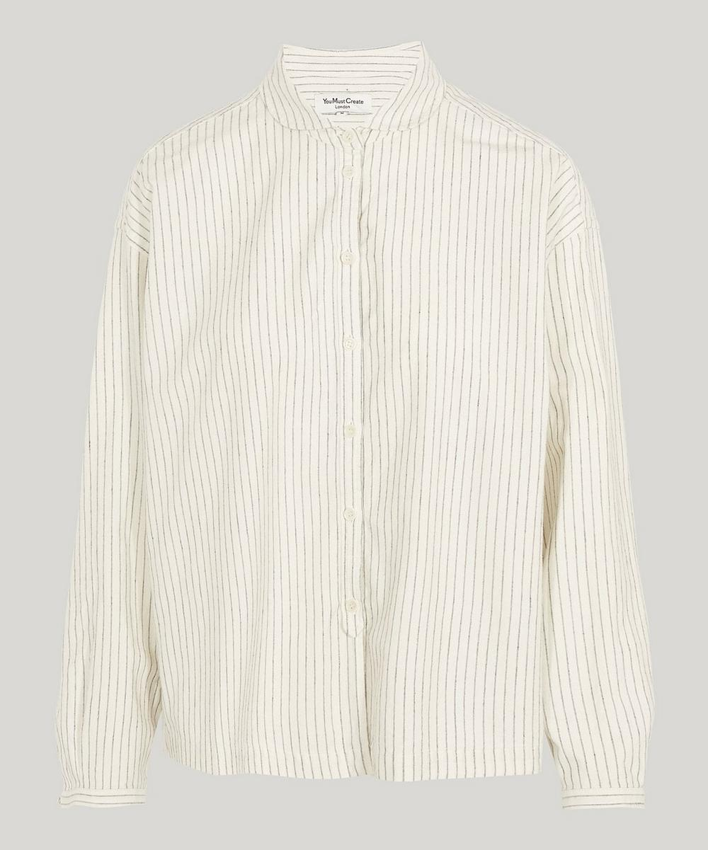 YMC YOU MUST CREATE MARIANNE STRIPE COTTON SHIRT