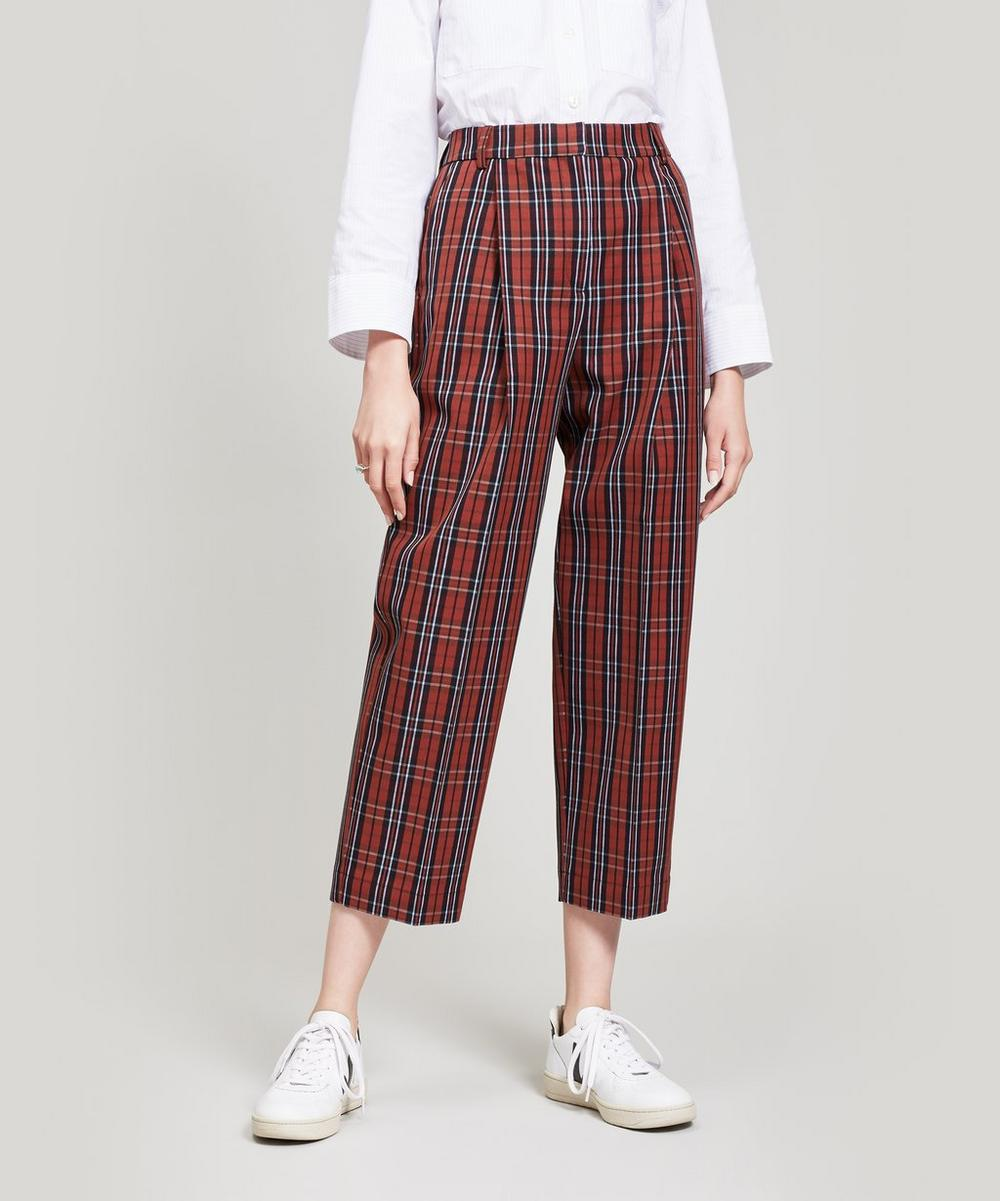 Market Check Trousers