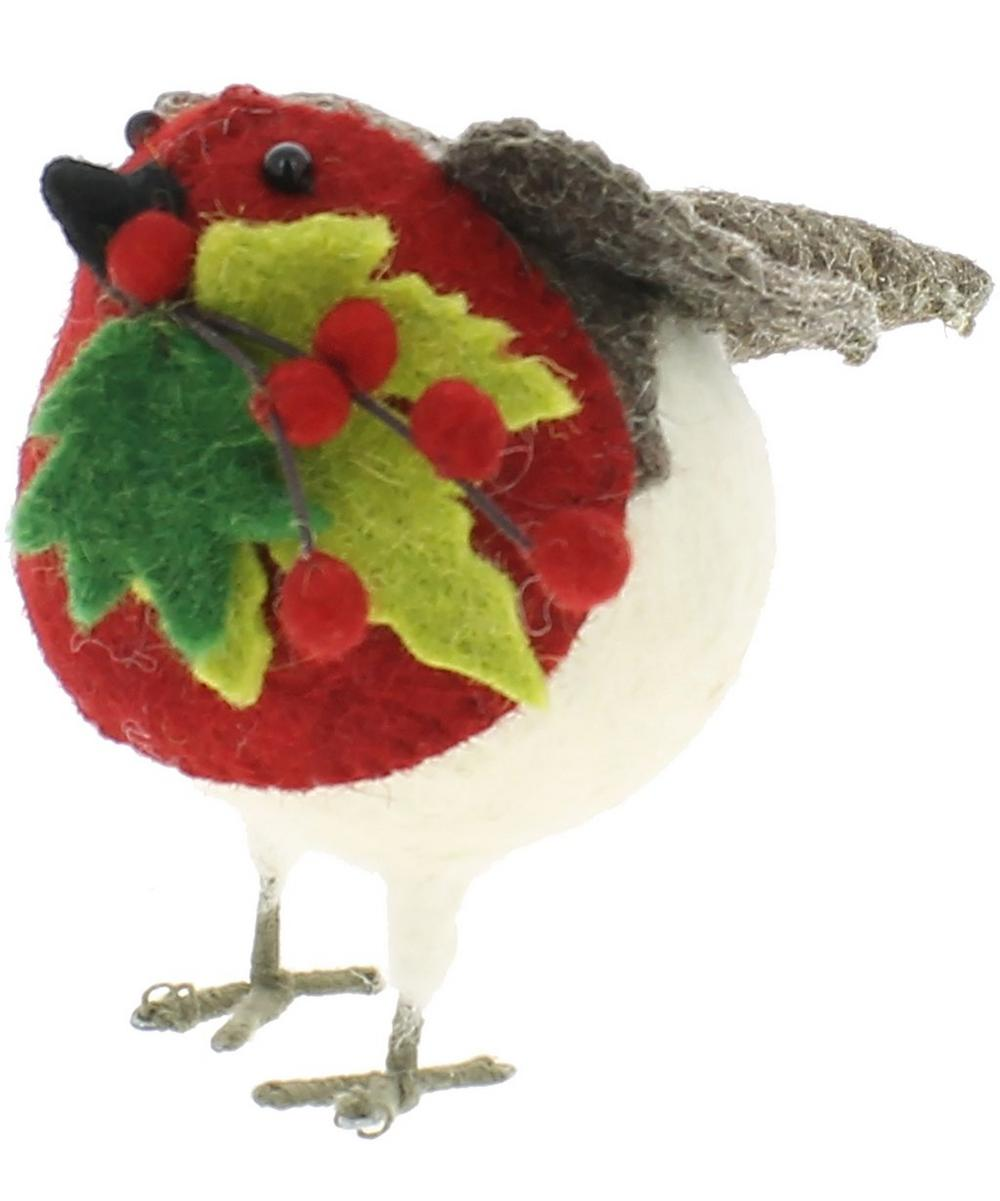 Small Red Robin Decoration