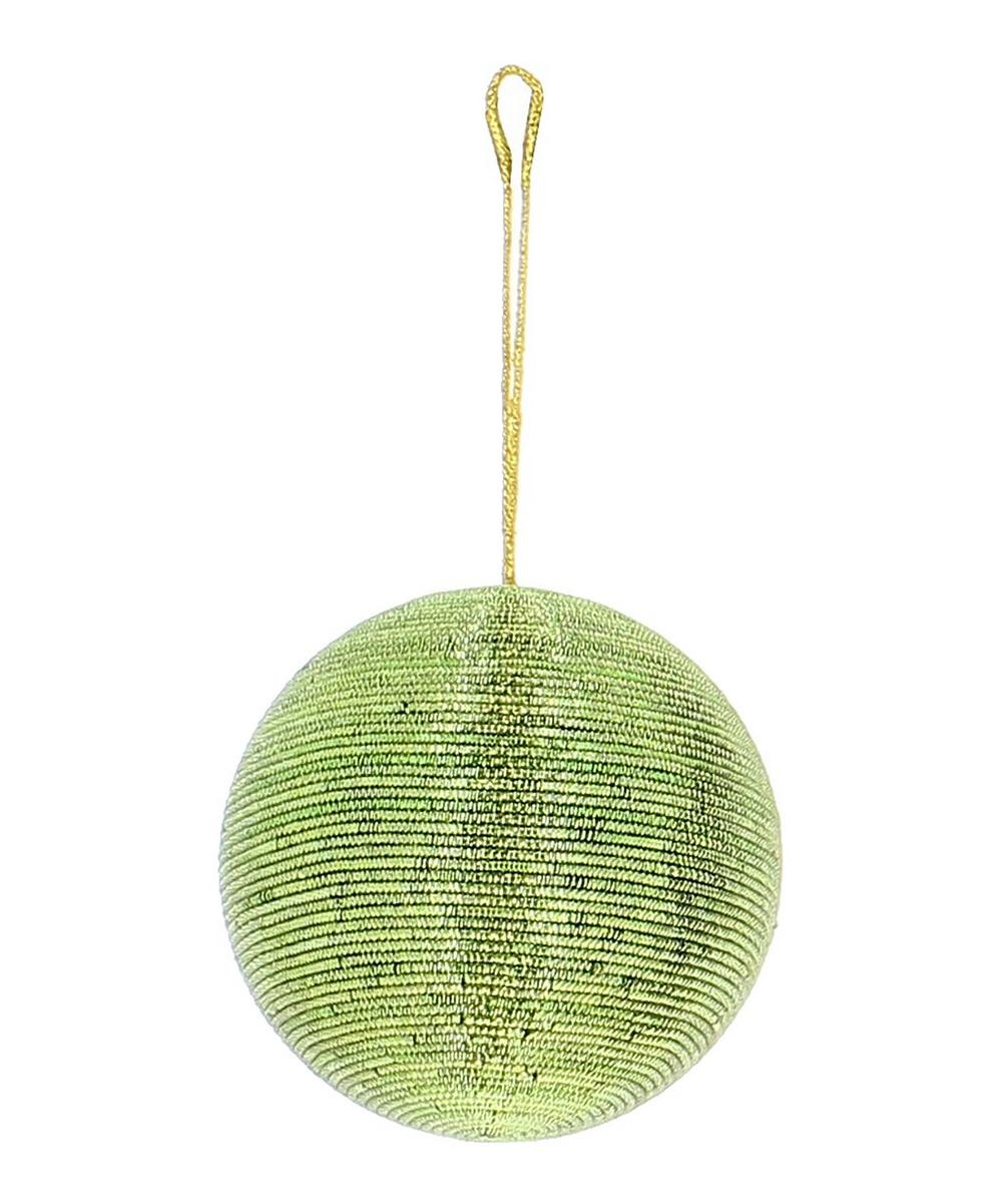 Green Wire Bauble