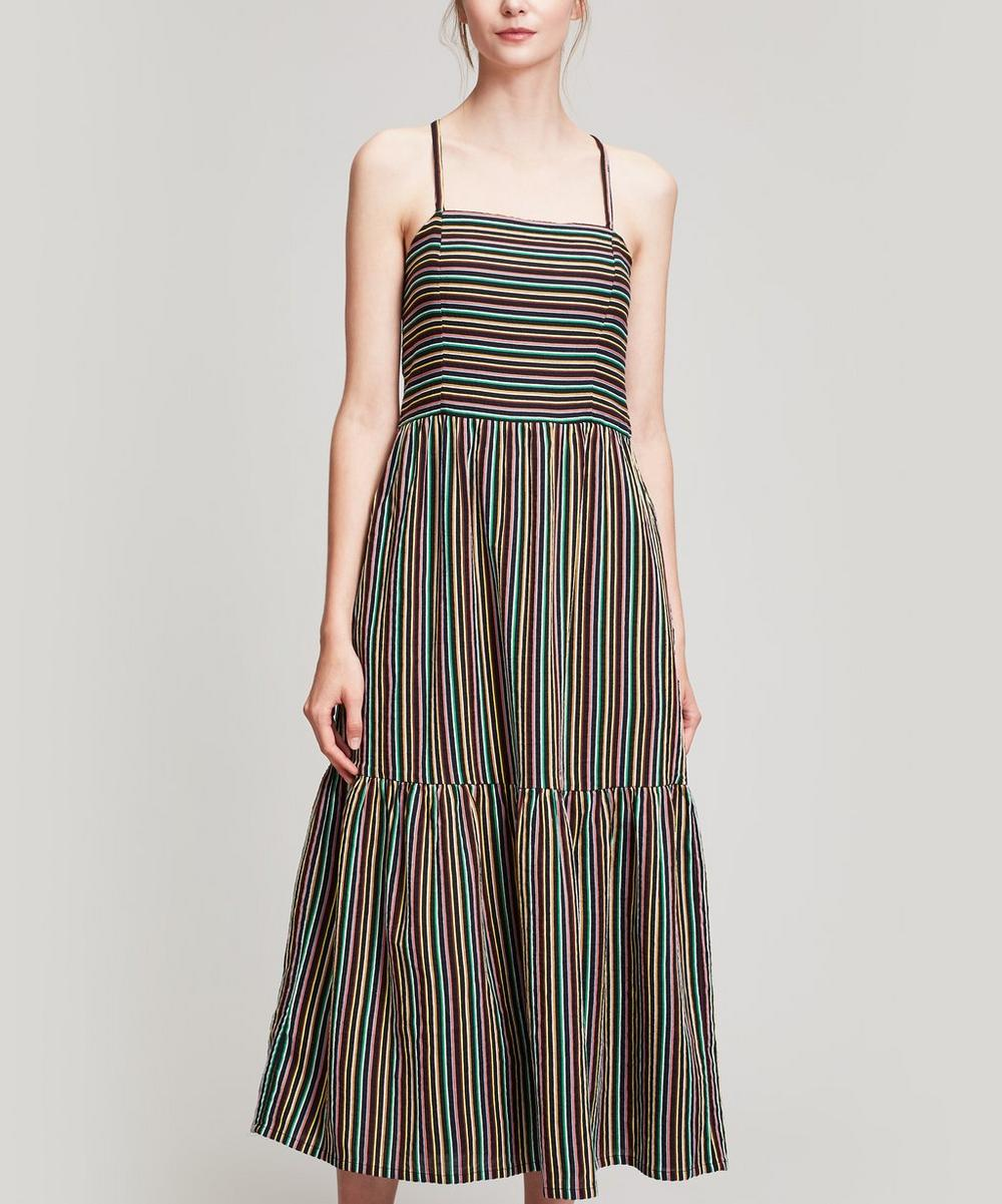 ACE AND JIG DUSTY STRIPED COTTON MAXI DRESS