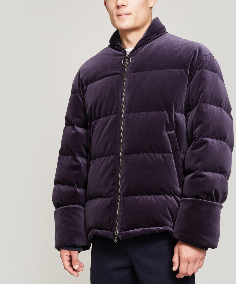 WOOYOUNGMI VELVET QUILTED JACKET