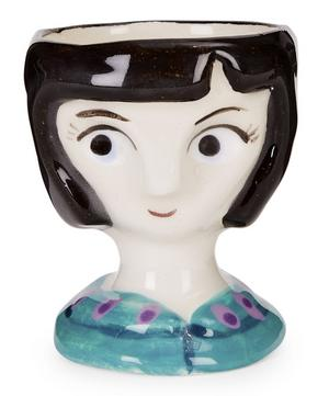 Black-Haired Woman Egg Cup