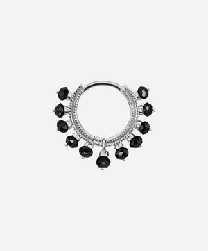 "5/16"" Black Diamond Coronet Hoop Earring"