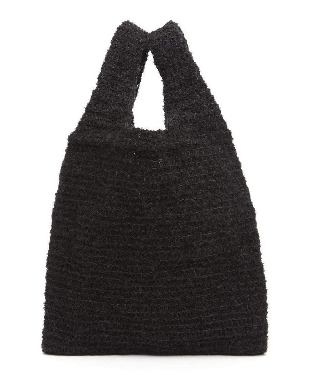 KARAKORAM Orco Knitted Shopper Bag in Black