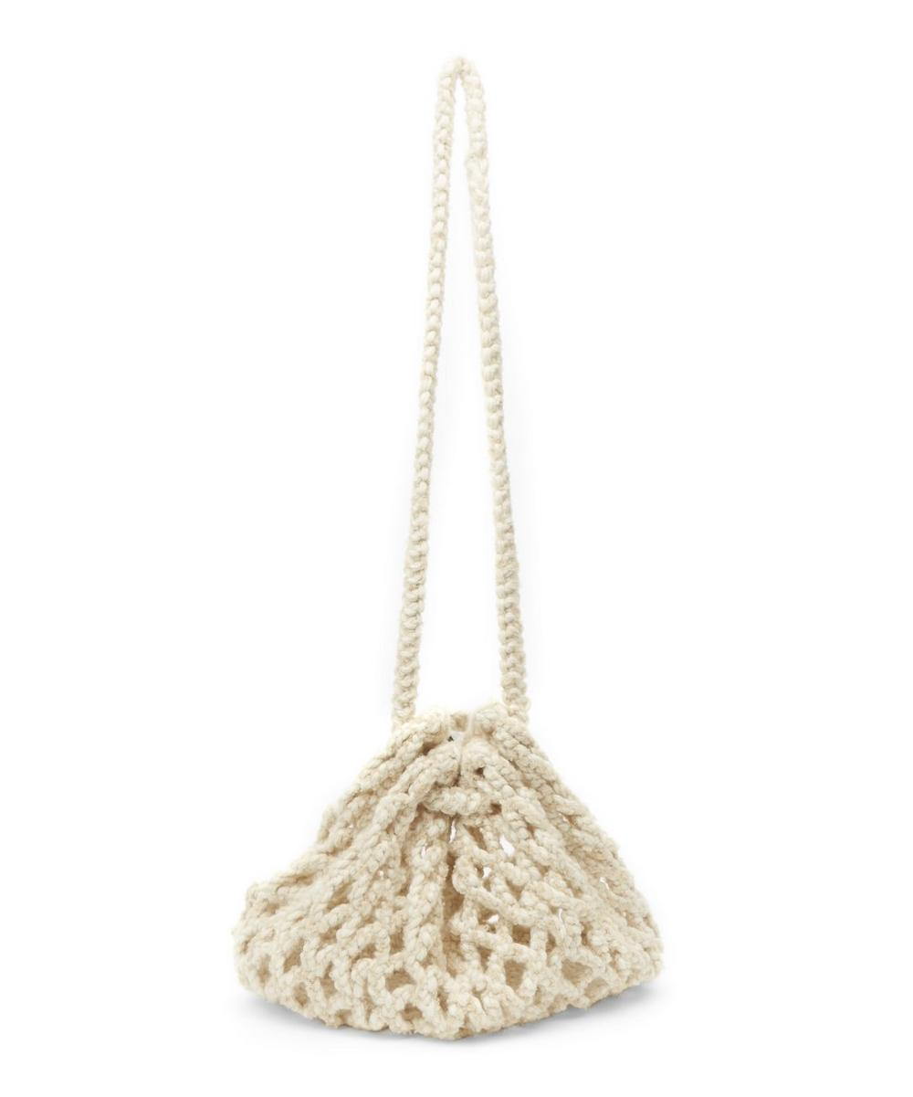 KARAKORAM YAYAMARI KNITTED WOOL-BLEND BUCKET BAG