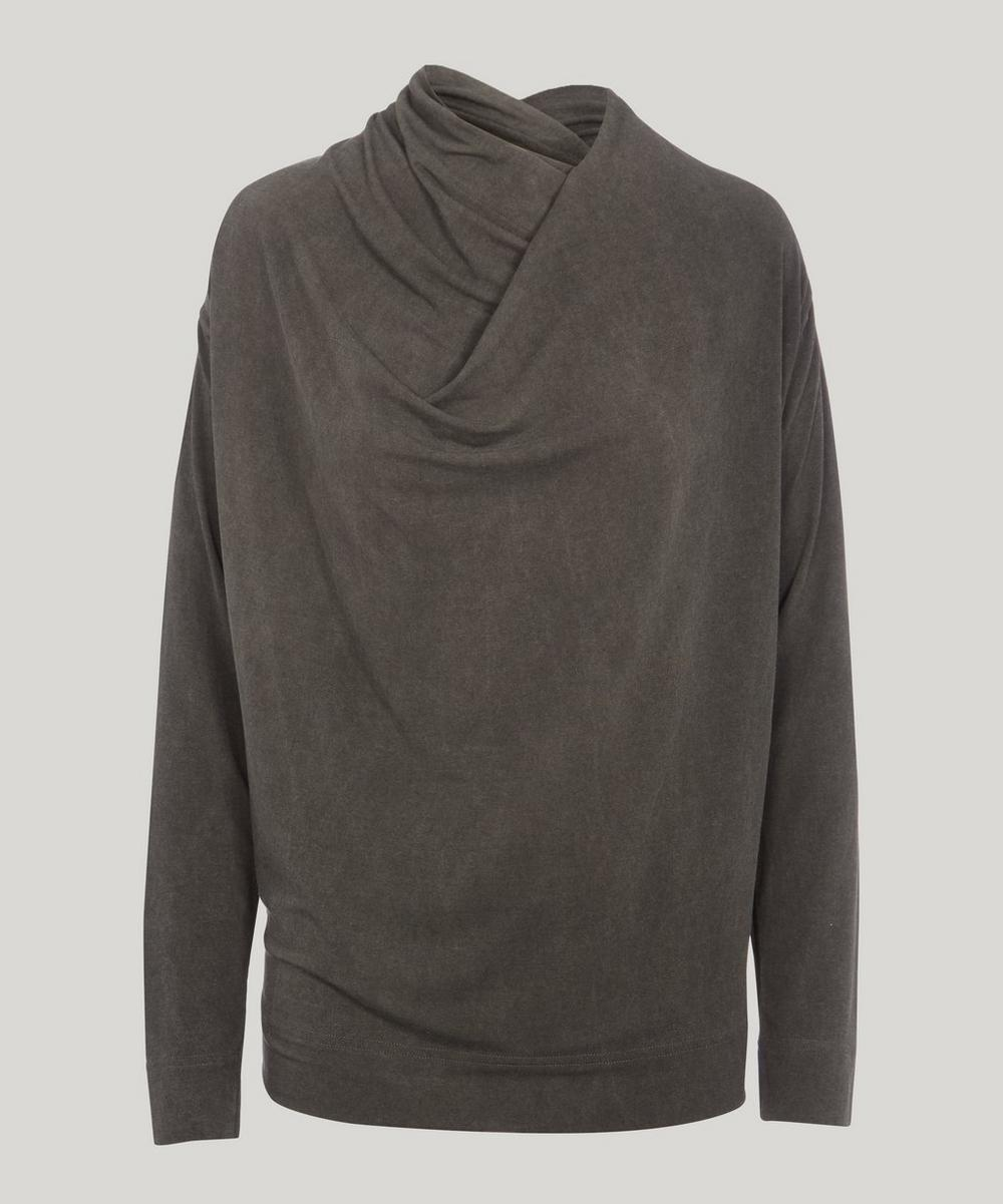 ANGLOMANIA BY VIVIENNE WESTWOOD DRAPE COTTON TOP